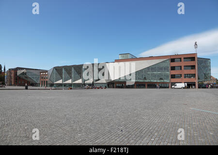 The Culture Yard in the area of the old shipyard on the waterfront in Elsinore  Harbour, Helsingør, Denmark  Architect - Stock Photo