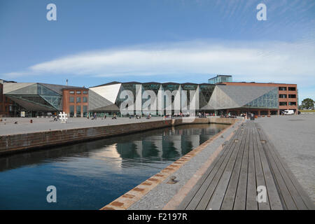 The Culture Yard in the area of the old shipyard on the waterfront in Elsinore  Harbour, Helsingør, Denmark.  Architect - Stock Photo