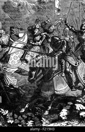 The Battle of Guinegate or Battle of the Spurs,part of the Holy League under the Italian Wars took place in France - Stock Photo