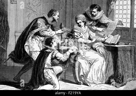 Lady Jane Grey (1536 – 1554), also known as The Nine Days' Queen. An English noblewoman she reigned on the death - Stock Photo