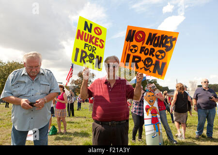 Washington DC, USA. 9th September, 2015. Tea Party members in the thousands rally on the West Lawn of the US Capitol - Stock Photo