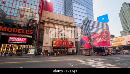 The AMC 25 Theatre in Times Square in New York on Monday, September 7, 2015. The summer of 2015 was the second biggest - Stock Photo