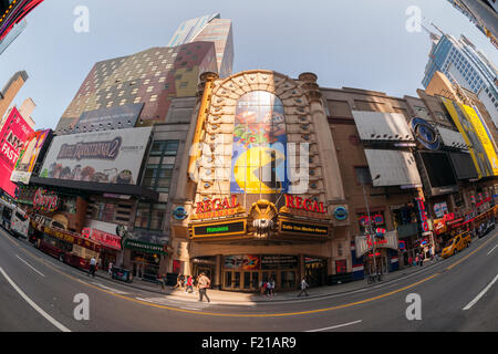The Regal Cinemas in Times Square in New York on Monday, September 7, 2015. The summer of 2015 was the second biggest - Stock Photo