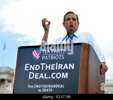 Washington, DC, USA. 9th Sep, 2015. U.S. Republican presidential candidate Ted Cruz speaks during 'Stop the Iran - Stock Photo