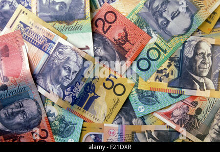 Australian currency (notes) - Stock Photo