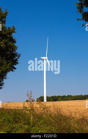 Wind turbine at Charentenay, Poitou Charentes, Charente Maritime, France - Stock Photo