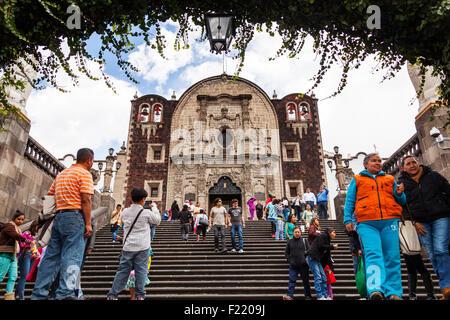 Old Parroquia de Indios capilla del Cerrito Basilica de Nuestra Señora de Guadalupe Mexico City Federal District - Stock Photo