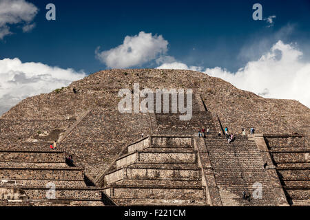 Pyramid of the Moon Teotihuacan archaeological site Unesco World Heritage Site Mexico America - Stock Photo