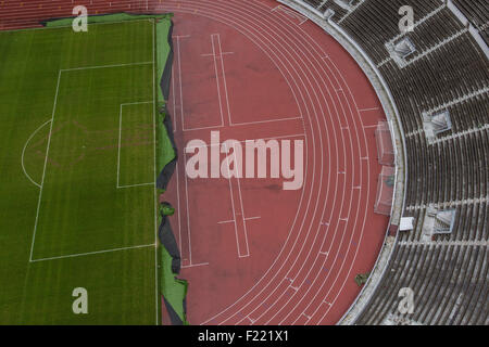 track and field, Olympic stadium, Games of the XV Olympiad, Olympic Games, 1952, Helsinki, Finland, S - Stock Photo
