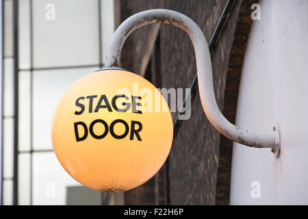 Stage Door outside The Old Vic Theatre, south-east of Waterloo Station, Central London, England, UK - Stock Photo