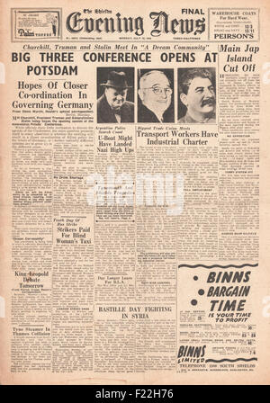 The Potsdam Conference Josef Stalin Harry S Truman Winston Stock