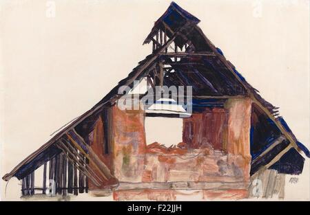 Egon Schiele - Old Gable - Stock Photo