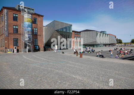 The Culture Yard in the area and buildings of the old shipyard on the waterfront in Elsinore Harbour, Helsingør, - Stock Photo