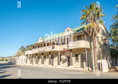 CALVINIA, SOUTH AFRICA - AUGUST 10, 2015: Historic old building in Calvinia, a small town in the Hantam-Karoo region - Stock Photo