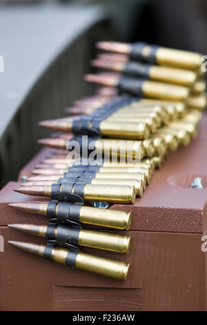 Machine Gun Ammunition - Stock Photo