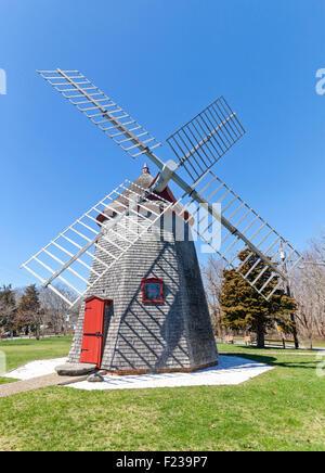A windmill on Cape Cod. - Stock Photo