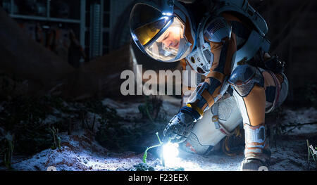 THE MARTIAN 2015 20th Centy Fox film directed by Ridley Scott with Matt Damon as Mark Watney - Stock Photo