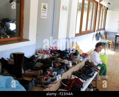 Paris, France. 10th Sep, 2015. A refugee is seen at the Hubert Renaud center in Cergy-Pontoise near Paris, France, - Stock Photo