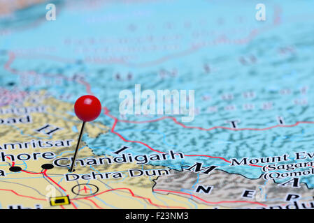 Dehra Dun pinned on a map of India Stock Photo Royalty Free Image