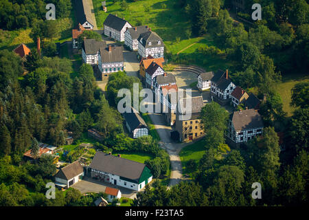 Museum Village, Hagen Open-air Museum, Sauerland, North Rhine-Westphalia, Germany - Stock Photo