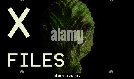 X files alien - Stock Photo