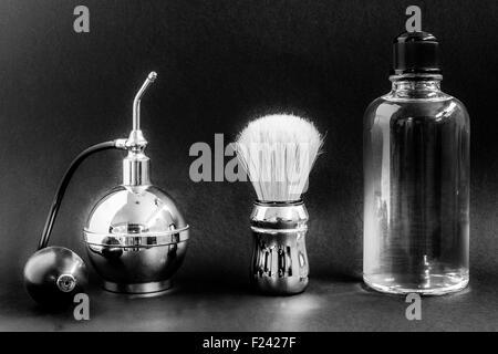 vaporizer sahving brush perfume - Stock Photo