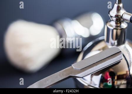 razor on vaporizer - Stock Photo