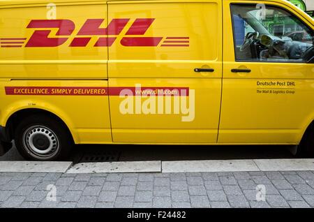 DHL delivery van - Stock Photo