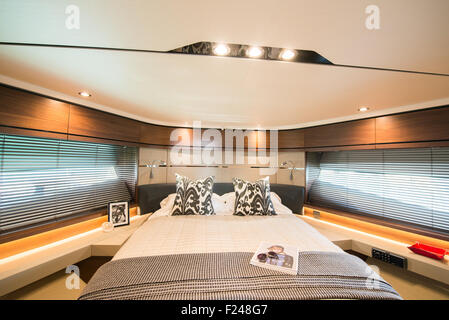 Southampton, UK. 11th September 2015. Southampton Boat Show 2015. Interior of the Princess S65 world launched at - Stock Photo