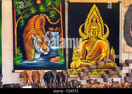 Items for sale on stall at Poole Thai Festival, Dorset, UK in September - Stock Photo