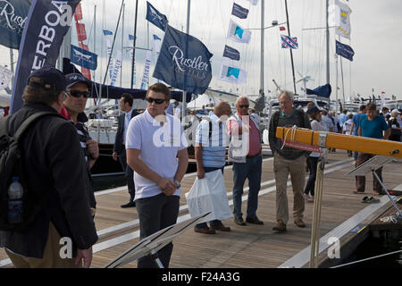 Southampton, UK.11th September, 2015. Crowds enjoy the Southampton Boat show 2015 Britain's biggest boating festival. - Stock Photo