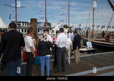 Southampton, UK.11th September, 2015. Crowds at the Southampton Boat show 2015 Britain's biggest boating festival. - Stock Photo