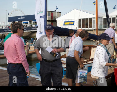 Southampton, UK.11th September, 2015. Visitors enjoy the Southampton Boat show 2015 Britain's biggest boating festival. - Stock Photo