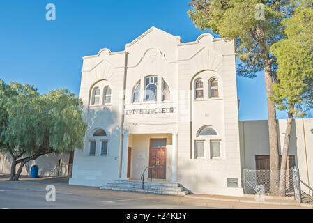 CALVINIA, SOUTH AFRICA - AUGUST 10, 2015: The town museum is housed in the historic synagogue in Calvinia - Stock Photo