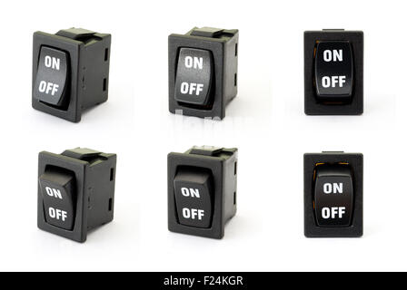 Toggle switch on the white background - Stock Photo
