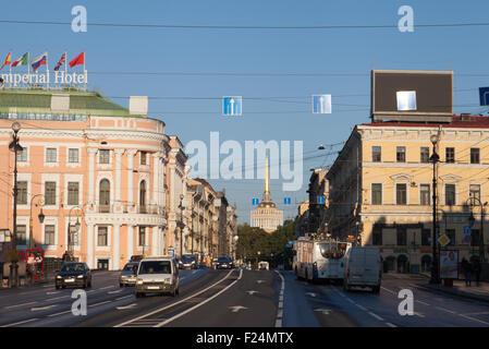 Admiralty building, Nevsky Prospect, St. Petersburg, Russia. - Stock Photo