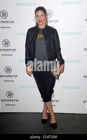 Brooklyn, NY, USA. 10th Sep, 2015. Drew Barrymore at arrivals for Refinery29 Fashion Week Destination: 29Rooms Opening - Stock Photo