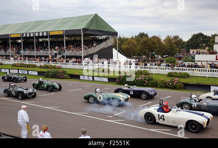 Chichester, West Sussex, UK. 11th Sep, 2015. Action in the Freddie March Memorial Trophy pictured at the Goodwood - Stock Photo