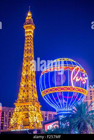 The Paris Las Vegas hotel and casino in Las Vegas - Stock Photo