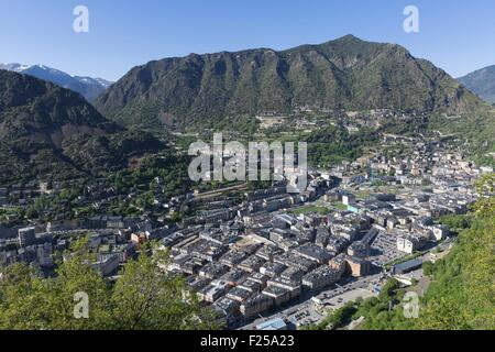 Andorra, Andorra La Vella, capital city of Andorra state, Escaldes-Engordany - Stock Photo