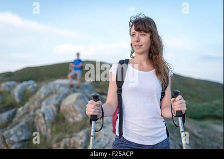 France, Finistere, Le Conquet, walk on peninsula of Kermorvan - Stock Photo