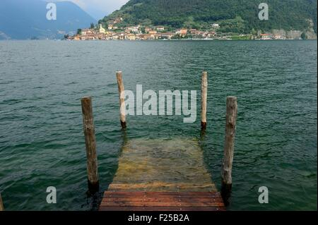 Italy, Lombardy, Iseo lake, Monte Isola island - Stock Photo