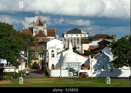 Sri Lanka, Southern Province, Galle Fort, listed as World heritage by UNESCO, Sri Sudharmalaya Buddhist temple in - Stock Photo