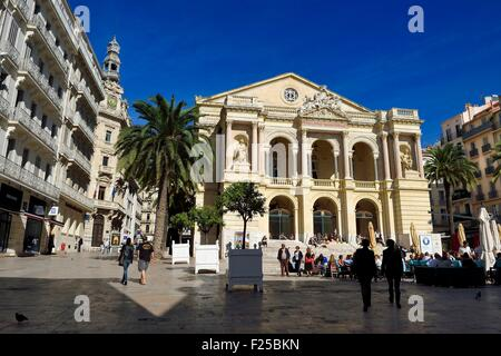 France, Var, Toulon, place Victor Hugo, the opera, former City Theatre - Stock Photo
