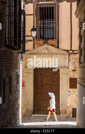 Spain, Castilla La Mancha, Toledo, historical city listed as World Heritage by UNESCO, the city center - Stock Photo