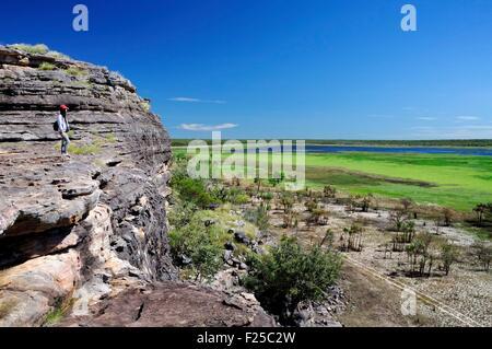 Australia, Northern Territory, Kakadu National Park listed as World Heritage by UNESCO, Ubirr Rock (MR Dawa OK) - Stock Photo