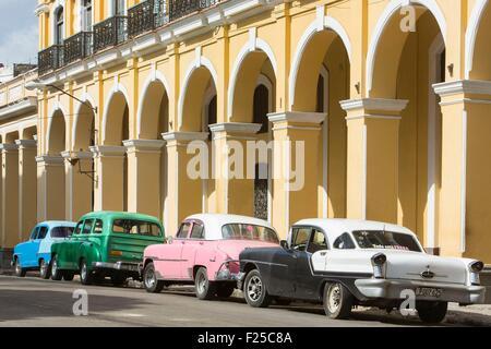 Cuba, Ciudad de la Habana province, La Havana, La Habana Vieja district listed as World Heritage by UNESCO, american - Stock Photo