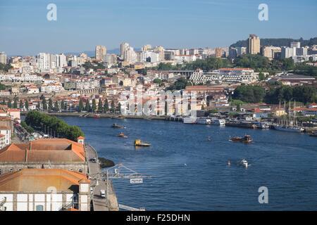 Portugal, North region, Porto, view from the Crystal Palace garden, Vila Nova de Gaia in the background - Stock Photo