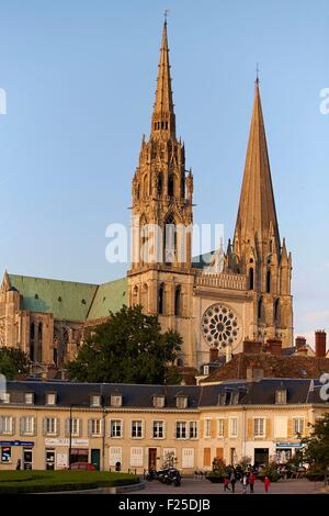 France, Eure et Loir, Chartres, Notre Dame Cathedral listed as World Heritage by UNESCO - Stock Photo