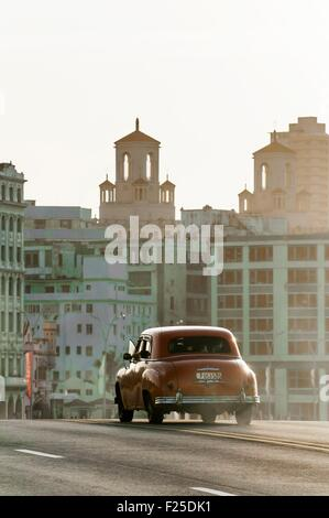 Cuba, Havana, Malecon, Habana Centro district - Stock Photo